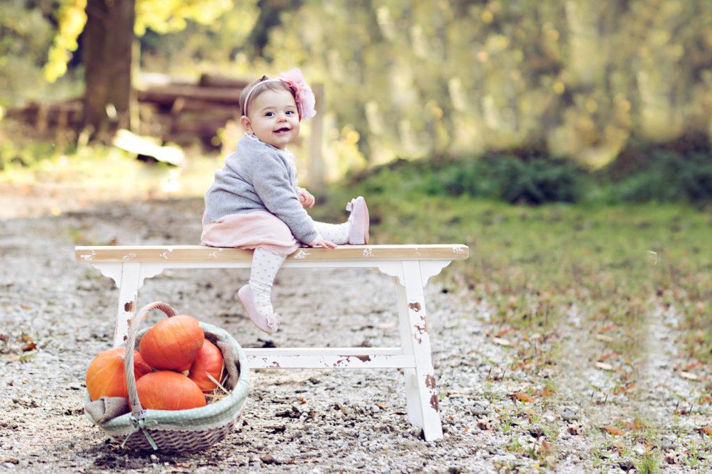 Babyshooting im eigenen Garten