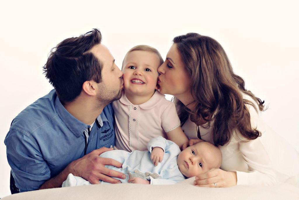 Natuerliche Familienfotografie