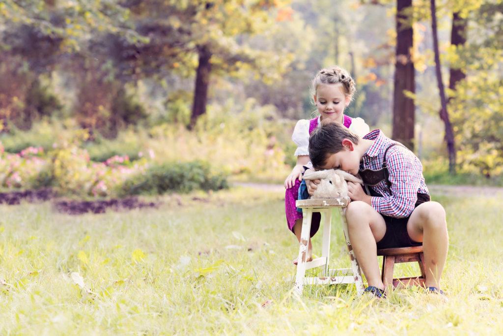 Outdoor Shooting mit Geschwister Muenchen