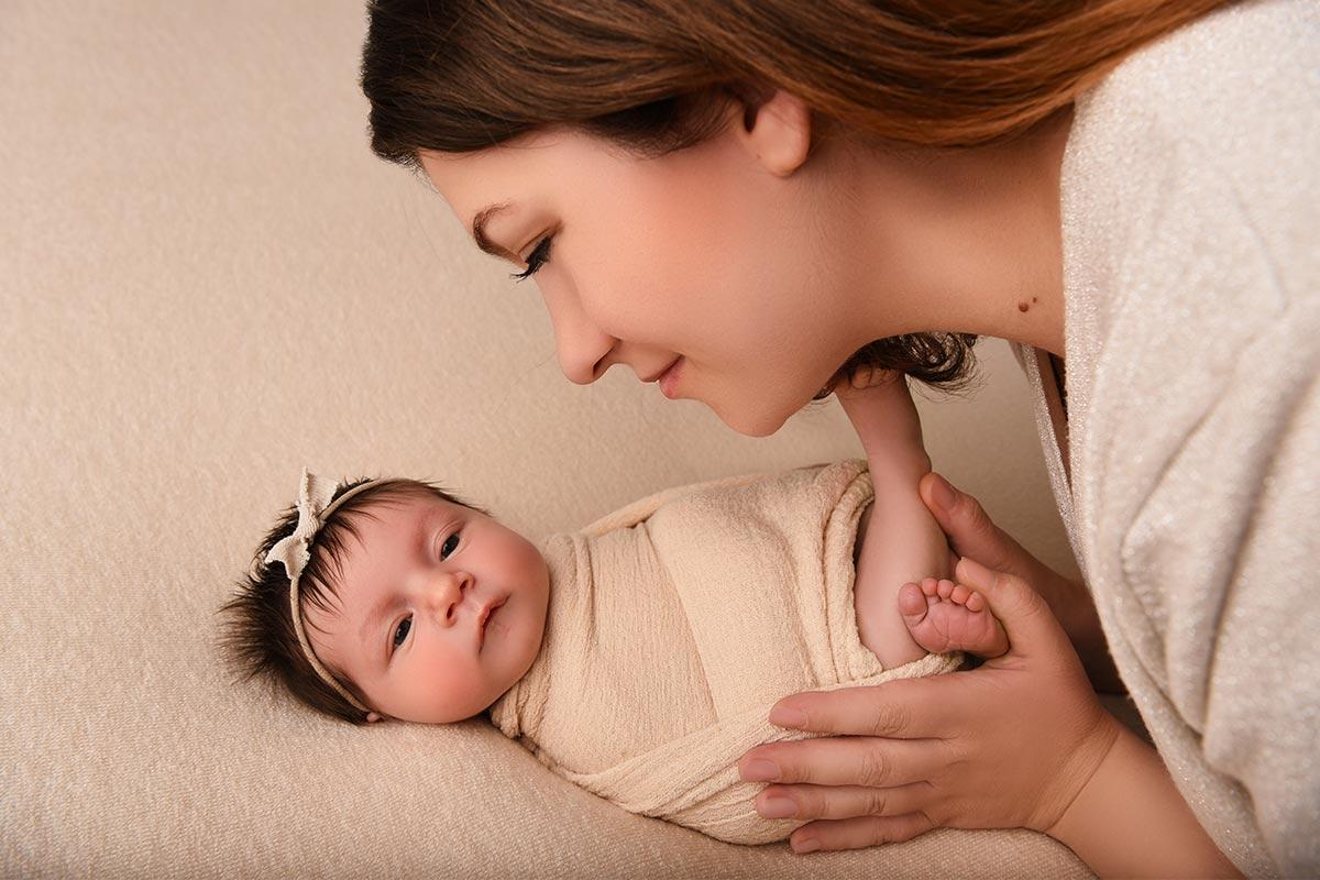 Mutter mit Baby Fotoshooting